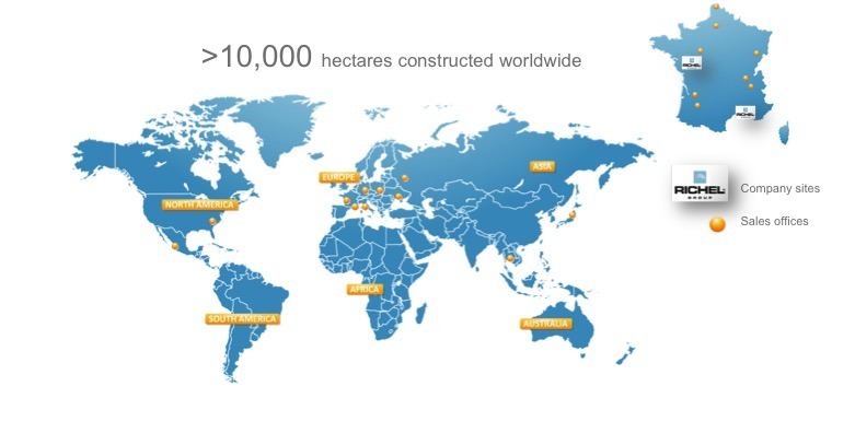 The Richel group, construction of agricultural greenhouse all over the world